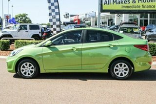 2013 Hyundai Accent RB Active Green 4 Speed Sports Automatic Sedan.