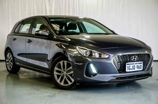 2017 Hyundai i30 PD MY18 Active D-CT Grey 7 Speed Sports Automatic Dual Clutch Hatchback.