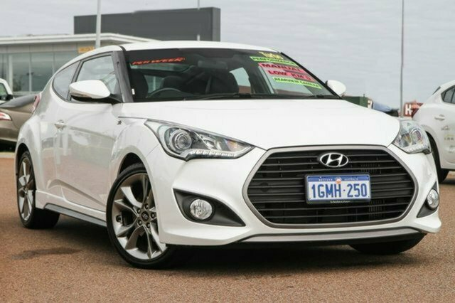 Used Hyundai Veloster FS4 Series II SR Coupe Turbo + Albion, 2015 Hyundai Veloster FS4 Series II SR Coupe Turbo + White 6 Speed Manual Hatchback