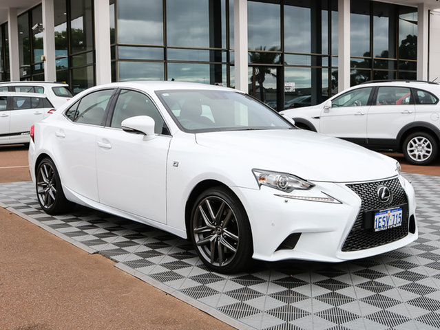 Used Lexus IS350 GSE31R F Sport, 2014 Lexus IS350 GSE31R F Sport White 8 Speed Sports Automatic Sedan