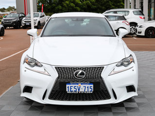 2014 Lexus IS350 GSE31R F Sport White 8 Speed Sports Automatic Sedan.