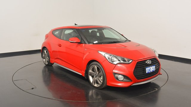 Used Hyundai Veloster FS4 Series II SR Coupe D-CT Turbo +, 2014 Hyundai Veloster FS4 Series II SR Coupe D-CT Turbo + Red 7 Speed Sports Automatic Dual Clutch