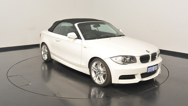 Used BMW 135I E88 LCI MY0911 D-CT, 2011 BMW 135I E88 LCI MY0911 D-CT White 7 Speed Sports Automatic Dual Clutch Convertible