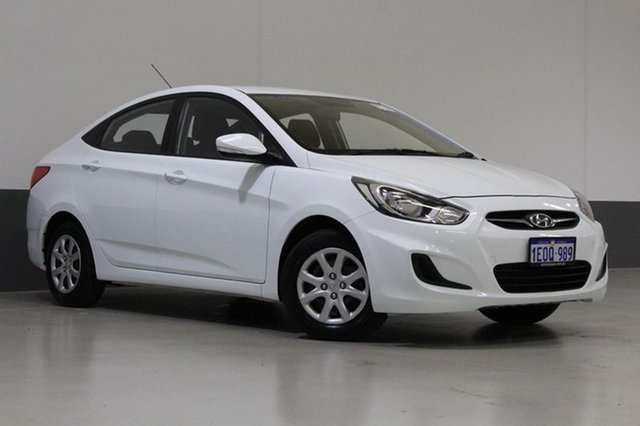 Used Hyundai Accent RB2 Active, 2014 Hyundai Accent RB2 Active White 4 Speed Automatic Sedan