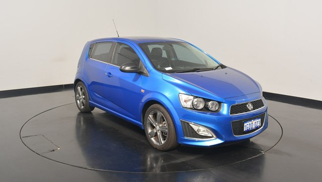 Used Holden Barina TM MY15 RS, 2015 Holden Barina TM MY15 RS Blue 6 Speed Manual Hatchback