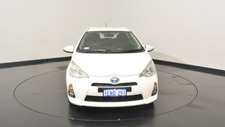 2014 Toyota Prius c NHP10R E-CVT White 1 Speed Constant Variable Hatchback Hybrid