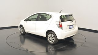 2014 Toyota Prius c NHP10R E-CVT White 1 Speed Constant Variable Hatchback Hybrid.