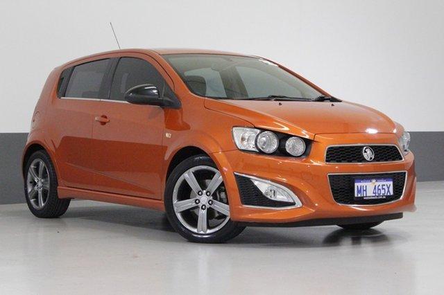 Used Holden Barina TM MY14 RS, 2014 Holden Barina TM MY14 RS Orange 6 Speed Manual Hatchback