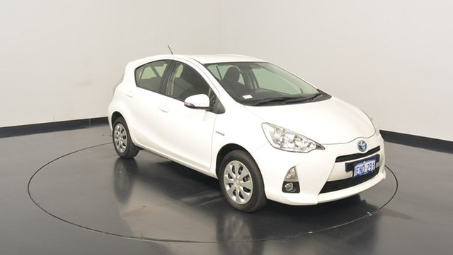 Used Toyota Prius c NHP10R E-CVT, 2014 Toyota Prius c NHP10R E-CVT White 1 Speed Constant Variable Hatchback Hybrid
