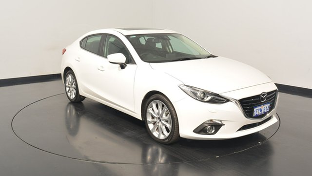 Used Mazda 3 BM5238 SP25 SKYACTIV-Drive GT, 2015 Mazda 3 BM5238 SP25 SKYACTIV-Drive GT Pearl 6 Speed Sports Automatic Sedan