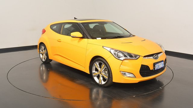 Used Hyundai Veloster FS3 Street Coupe D-CT, 2013 Hyundai Veloster FS3 Street Coupe D-CT Yellow 6 Speed Sports Automatic Dual Clutch Hatchback