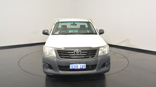 2013 Toyota Hilux TGN16R MY12 Workmate White 4 Speed Automatic Cab Chassis