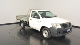 2013 Toyota Hilux TGN16R MY12 Workmate White 4 Speed Automatic Cab Chassis.