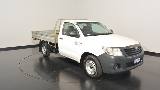 Used Toyota Hilux TGN16R MY12 Workmate, 2013 Toyota Hilux TGN16R MY12 Workmate White 4 Speed Automatic Cab Chassis