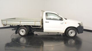 2013 Toyota Hilux TGN16R MY12 Workmate 4x2 White 4 Speed Automatic Cab Chassis