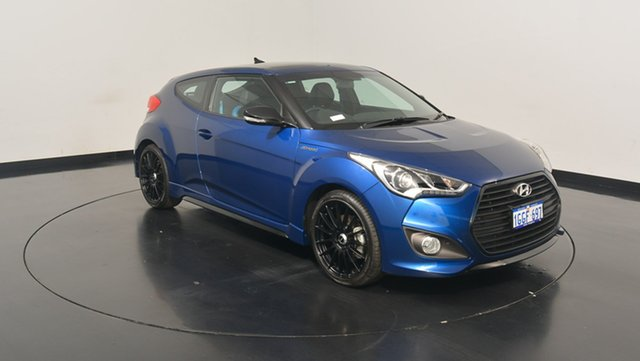Used Hyundai Veloster FS5 Series II Street Coupe D-CT, 2016 Hyundai Veloster FS5 Series II Street Coupe D-CT Dazzling Blue 7 Speed