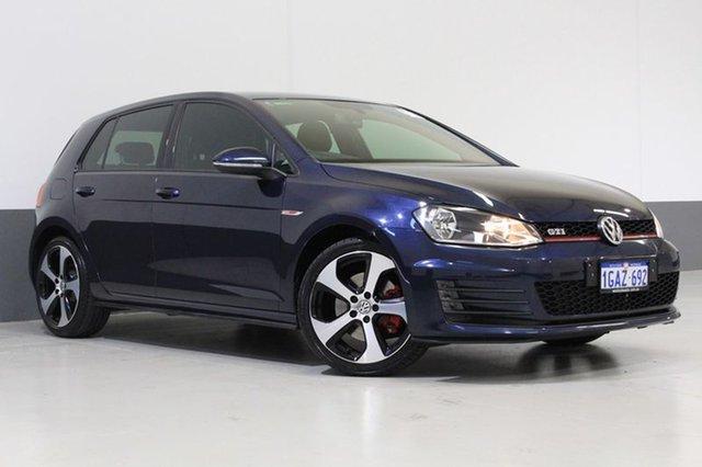 Used Volkswagen Golf AU MY15 GTi, 2015 Volkswagen Golf AU MY15 GTi Blue 6 Speed Direct Shift Hatchback