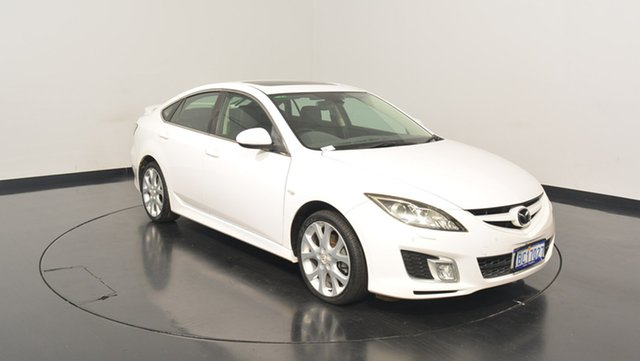 Used Mazda 6 GH1051 MY09 Luxury Sports, 2009 Mazda 6 GH1051 MY09 Luxury Sports White 5 Speed Sports Automatic Hatchback