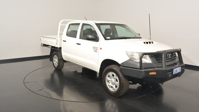 Used Toyota Hilux KUN26R MY12 Workmate Double Cab, 2013 Toyota Hilux KUN26R MY12 Workmate Double Cab White 4 Speed Automatic Utility
