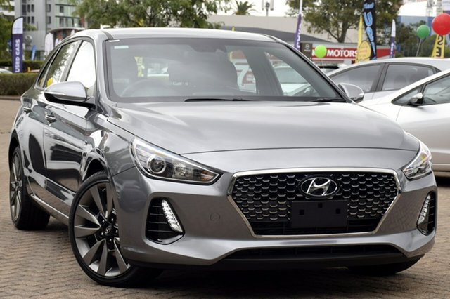 New Hyundai i30 PD2 MY18 SR D-CT, 2018 Hyundai i30 PD2 MY18 SR D-CT Sparkling Metal 7 Speed Sports Automatic Dual Clutch Hatchback