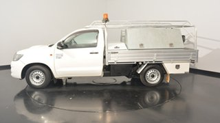 2014 Toyota Hilux KUN16R MY14 Workmate White 5 Speed Manual Cab Chassis.