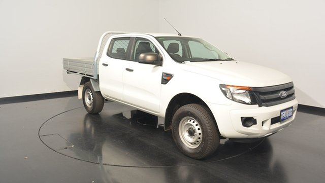 Used Ford Ranger PX XL Double Cab 4x2 Hi-Rider, 2015 Ford Ranger PX XL Double Cab 4x2 Hi-Rider Cool White 6 Speed Manual Utility