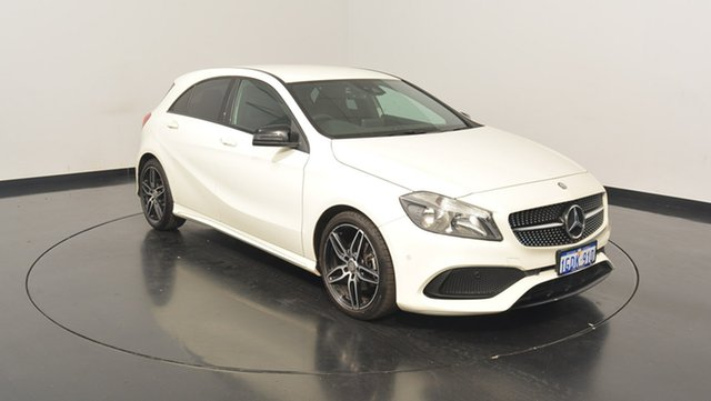 Used Mercedes-Benz A200 W176 807MY D-CT, 2016 Mercedes-Benz A200 W176 807MY D-CT Cirrus White 7 Speed Sports Automatic Dual Clutch Hatchback