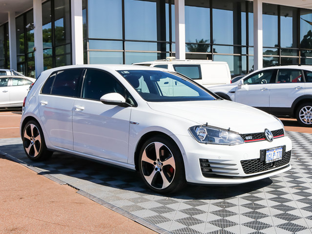Used Volkswagen Golf VII MY14 GTI DSG, 2014 Volkswagen Golf VII MY14 GTI DSG White 6 Speed Sports Automatic Dual Clutch Hatchback