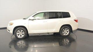 2009 Toyota Kluger GSU40R KX-S 2WD White 5 Speed Sports Automatic Wagon.
