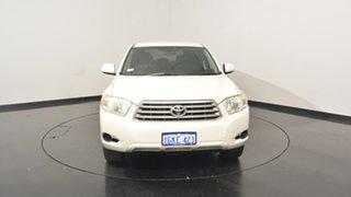 2009 Toyota Kluger GSU40R KX-S 2WD White 5 Speed Sports Automatic Wagon