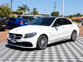 2017 Mercedes-Benz C63 W205 807+057MY AMG SPEEDSHIFT MCT S White 7 Speed Sports Automatic Sedan.