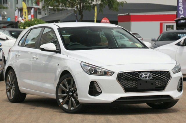 New Hyundai i30 PD MY18 SR D-CT, 2018 Hyundai i30 PD MY18 SR D-CT Polar White 7 Speed Sports Automatic Dual Clutch Hatchback