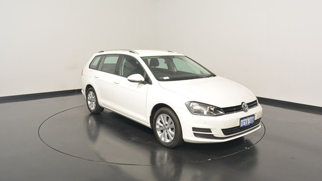 Used Volkswagen Golf VII MY16 92TSI DSG Comfortline, 2015 Volkswagen Golf VII MY16 92TSI DSG Comfortline Pure White 7 Speed Sports Automatic Dual Clutch