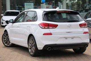 2018 Hyundai i30 PD MY18 SR D-CT Polar White 7 Speed Sports Automatic Dual Clutch Hatchback.