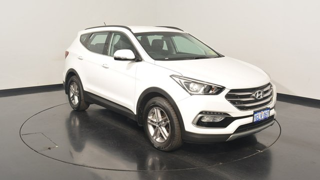 Used Hyundai Santa Fe DM3 MY17 Active, 2017 Hyundai Santa Fe DM3 MY17 Active White Crystal 6 Speed Sports Automatic Wagon