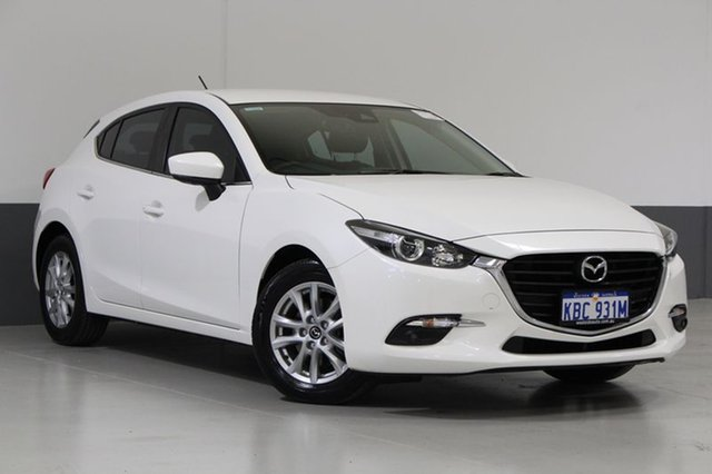 Used Mazda 3 BN MY17 Touring, 2017 Mazda 3 BN MY17 Touring White 6 Speed Automatic Hatchback