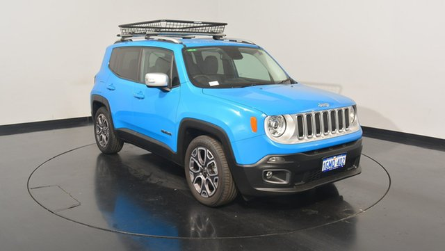 Used Jeep Renegade BU MY15 Limited DDCT, 2015 Jeep Renegade BU MY15 Limited DDCT Sierra Blue 6 Speed Sports Automatic Dual Clutch Hatchback