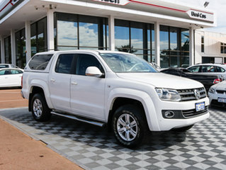 2014 Volkswagen Amarok 2H MY14 TDI400 4Mot Highline White 6 Speed Manual Utility.