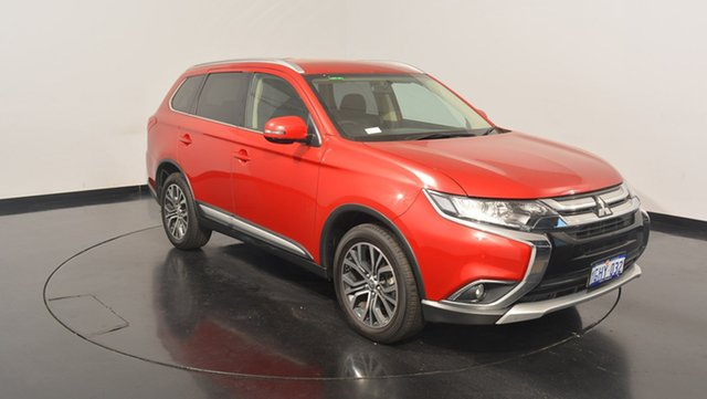 Used Mitsubishi Outlander ZK MY17 LS 4WD, 2017 Mitsubishi Outlander ZK MY17 LS 4WD Red 6 Speed Constant Variable Wagon