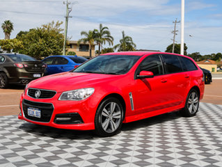 2014 Holden Commodore VF MY14 SV6 Sportwagon Red Hot 6 Speed Sports Automatic Wagon.