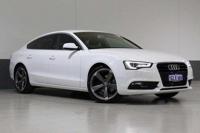 Used Audi A5 8T MY14 Sportback 1.8 TFSI, 2014 Audi A5 8T MY14 Sportback 1.8 TFSI White CVT Multitronic Hatchback