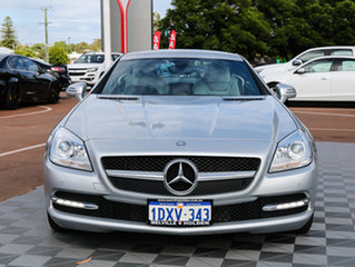 2012 Mercedes-Benz SLK200 R172 BlueEFFICIENCY 7G-Tronic + Silver 7 Speed Sports Automatic Roadster.