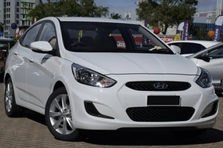 2019 Hyundai Accent RB6 MY18 Sport Chalk White 6 Speed Sports Automatic Sedan.