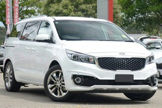 2019 Kia Carnival YP MY20 Platinum Snow White Pearl 8 Speed Sports Automatic Wagon.
