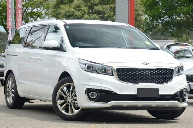 New Kia Carnival YP MY18 Platinum, 2018 Kia Carnival YP MY18 Platinum Snow White Pearl 6 Speed Sports Automatic Wagon