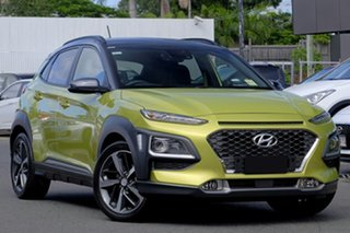 2020 Hyundai Kona OS.3 MY20 Highlander TTR YEL (FWD) Acid Yellow & Black Roof 6 Speed Automatic.