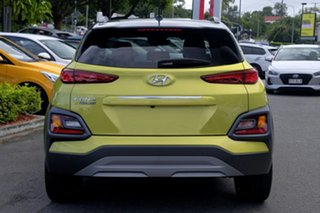 2020 Hyundai Kona OS.3 MY20 Highlander TTR YEL (FWD) Acid Yellow & Black Roof 6 Speed Automatic