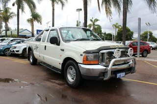 2002 Ford F250 XLT Super Cab White 4 Speed Automatic Utility.