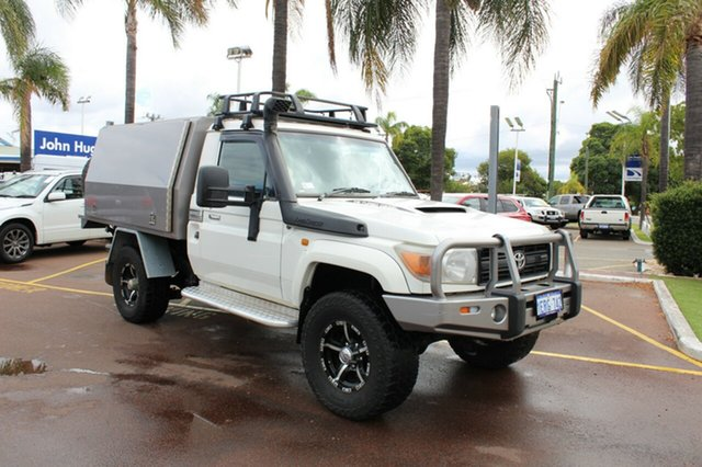 Used Toyota Landcruiser VDJ79R Workmate, 2009 Toyota Landcruiser VDJ79R Workmate White 5 Speed Manual Cab Chassis