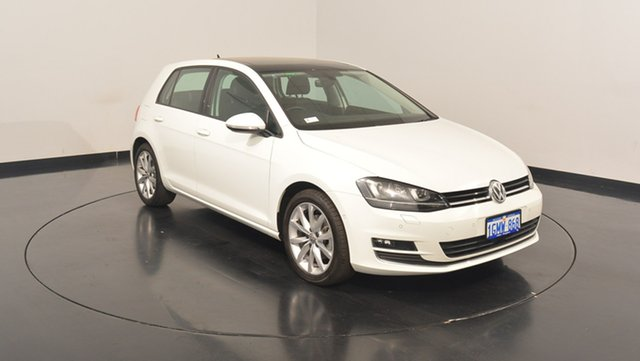 Used Volkswagen Golf VII MY17 110TSI DSG Highline, 2017 Volkswagen Golf VII MY17 110TSI DSG Highline Pure White 7 Speed Sports Automatic Dual Clutch